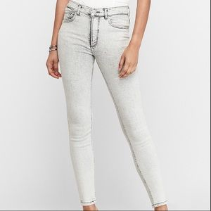NWT Express High Waisted Ankle Skinny Jeans 14